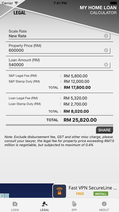 Malaysia Home Loan Calculator screenshot three