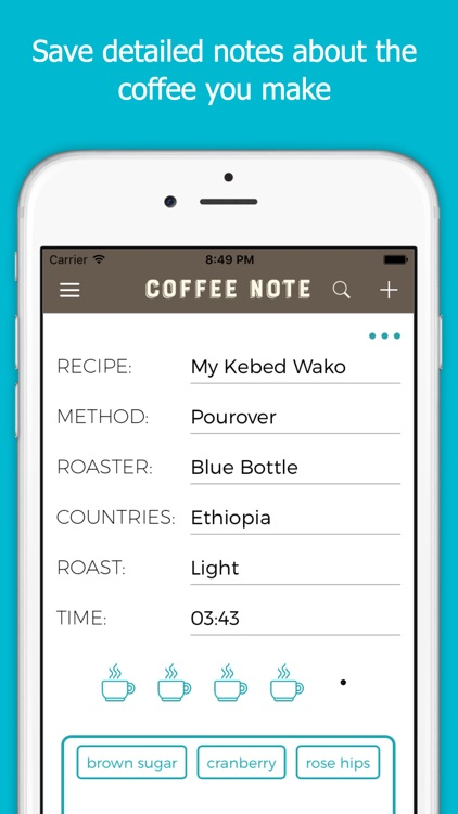 Coffee Note - Your Recipes, Multi Timers, Notes
