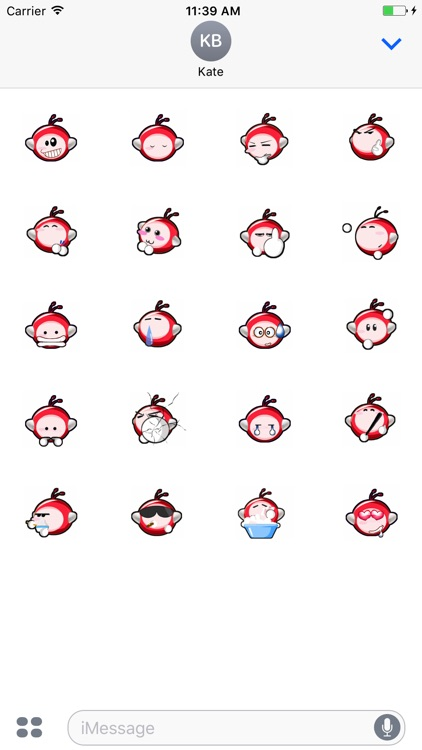 Animated Red Monkey Stickers For iMessage screenshot-3
