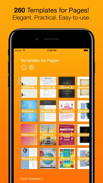 Templates for Pages (for iPad, iPhone, iPod touch)