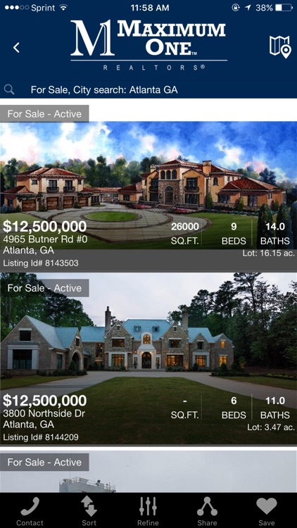 Maximum One Home Search
