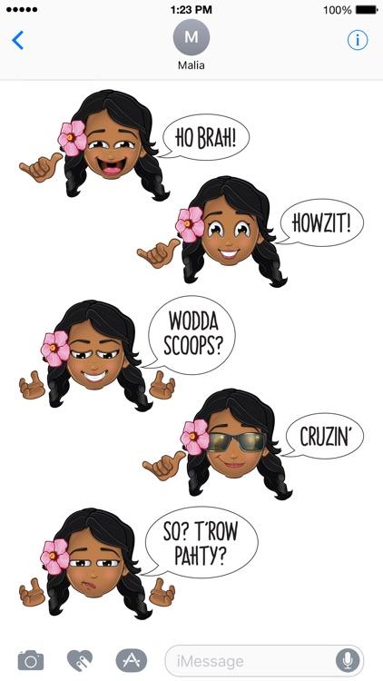 Pidginmoji - Wahine Stickers