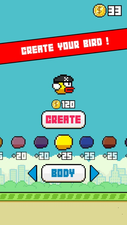 Flappy Ninja - Create Your Own Original Bird ! screenshot-4