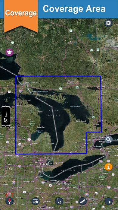Huron Lake GPS offline nautical chart for boaters screenshot one