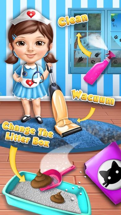 Sweet Baby Girl Cat Shelter – No Ads screenshot 4