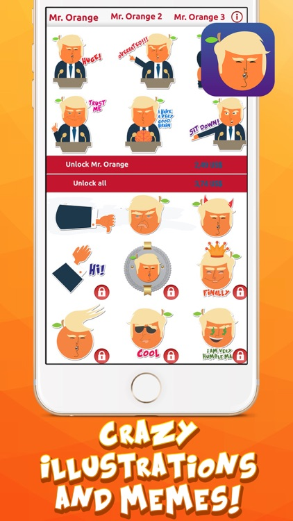 Mr. Orange in Charge – Stickers for iMessage screenshot-3