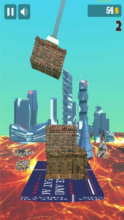 Trumpy Wall: Build As High As Possible!