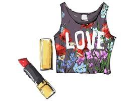 Stylish Girl Beauty and Fashion Sticker Pack 1