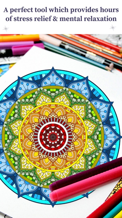 Coloring Book For Adults - Stress Relief Therapy