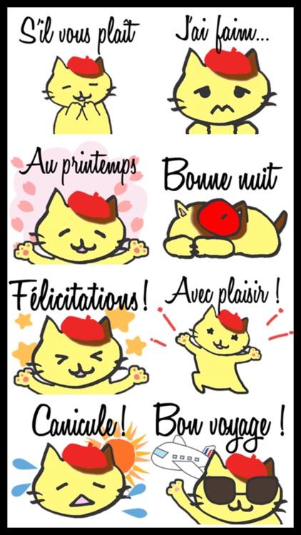 French Cat Sticker Pack screenshot-3
