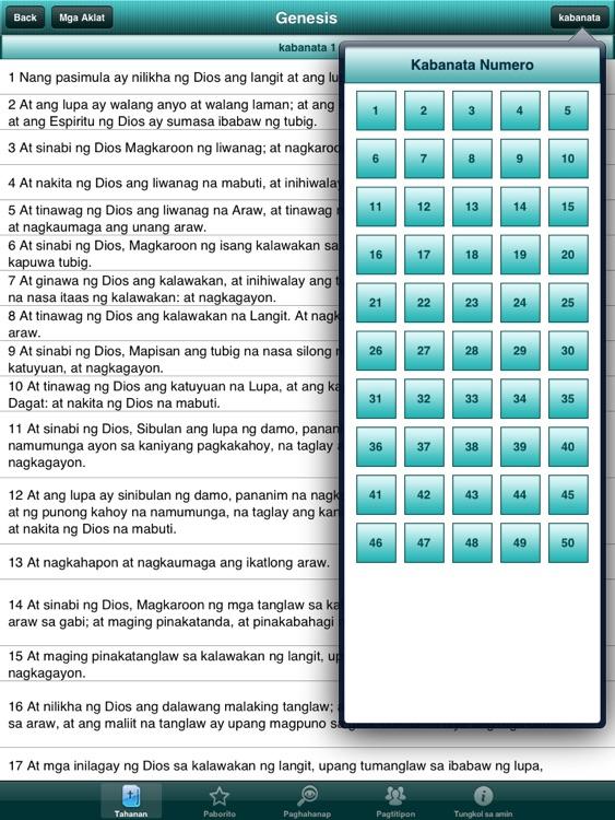 Holy Bible in Filipino for iPad screenshot-4