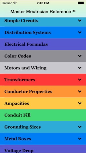 2011 master electrician ref on the app store screenshots keyboard keysfo Choice Image