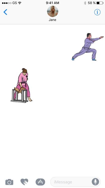 Karate Sticker Pack