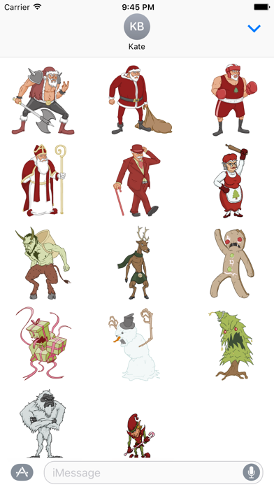 The Fight Before Christmas Stickers! screenshot two
