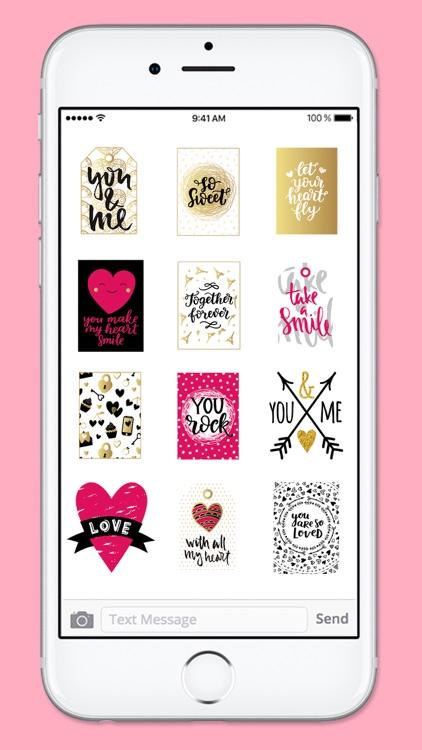 Love Notes Valentines Day Sticker Pack screenshot-4