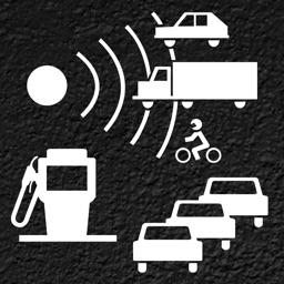 Skip Traffic! Pro, gas price and speed cam warner