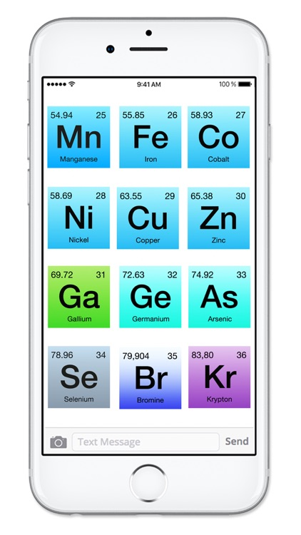 Rainbow Periodic Table of Elements Sticker Pack screenshot-4
