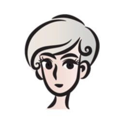 Short Gray Hair Girl stickers by wenpei
