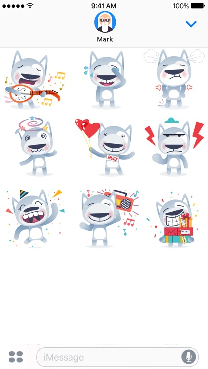Wolfy The Dog - Sticker Pack screenshot-3