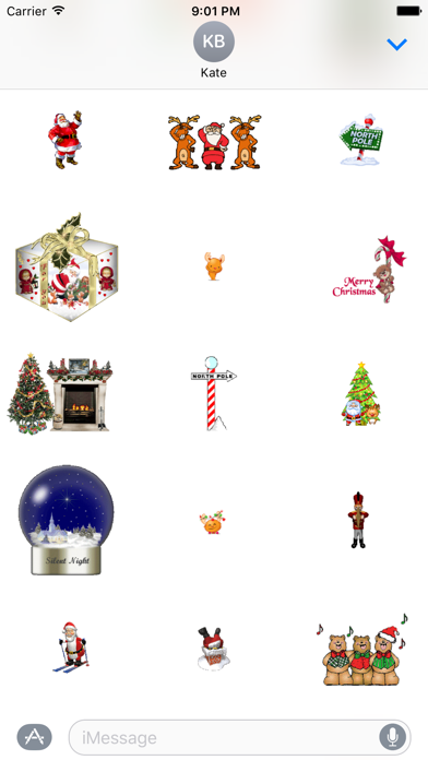 Animated Christmas Stickers for iMessageScreenshot of 4