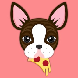 Brindle Boston Terrier Emoji Stickers for iMessage