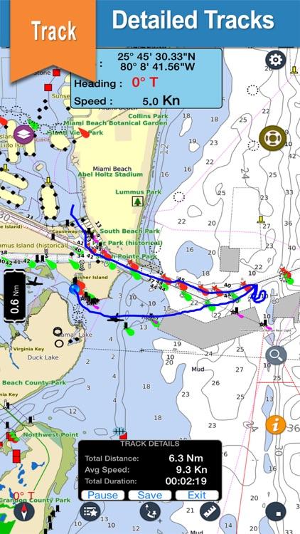 Nord Pas De Calais offline nautical fishing charts