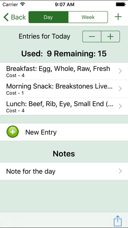 Daily Tracker for Weight Loss