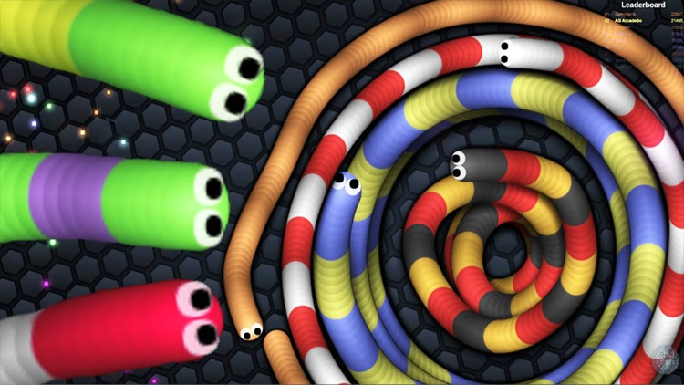 Colory Snake - Hungry Worm.IO Rolling Flip