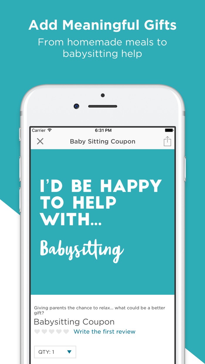 Babylist Baby Registry Screenshot