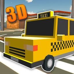 Blocky Taxi Crazy Drive Sim 3D