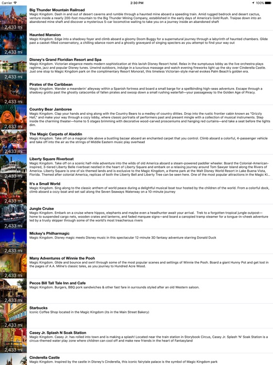 MotorCo Guide for Disney World for iPad