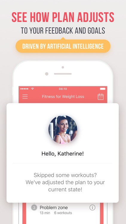 Fitness for weight loss: personalized workout plan app image