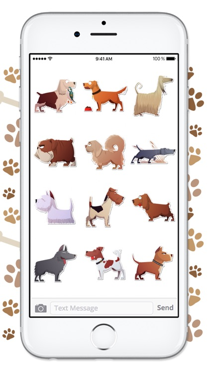 Funny Cartoon Dog Sticker Pack screenshot-4