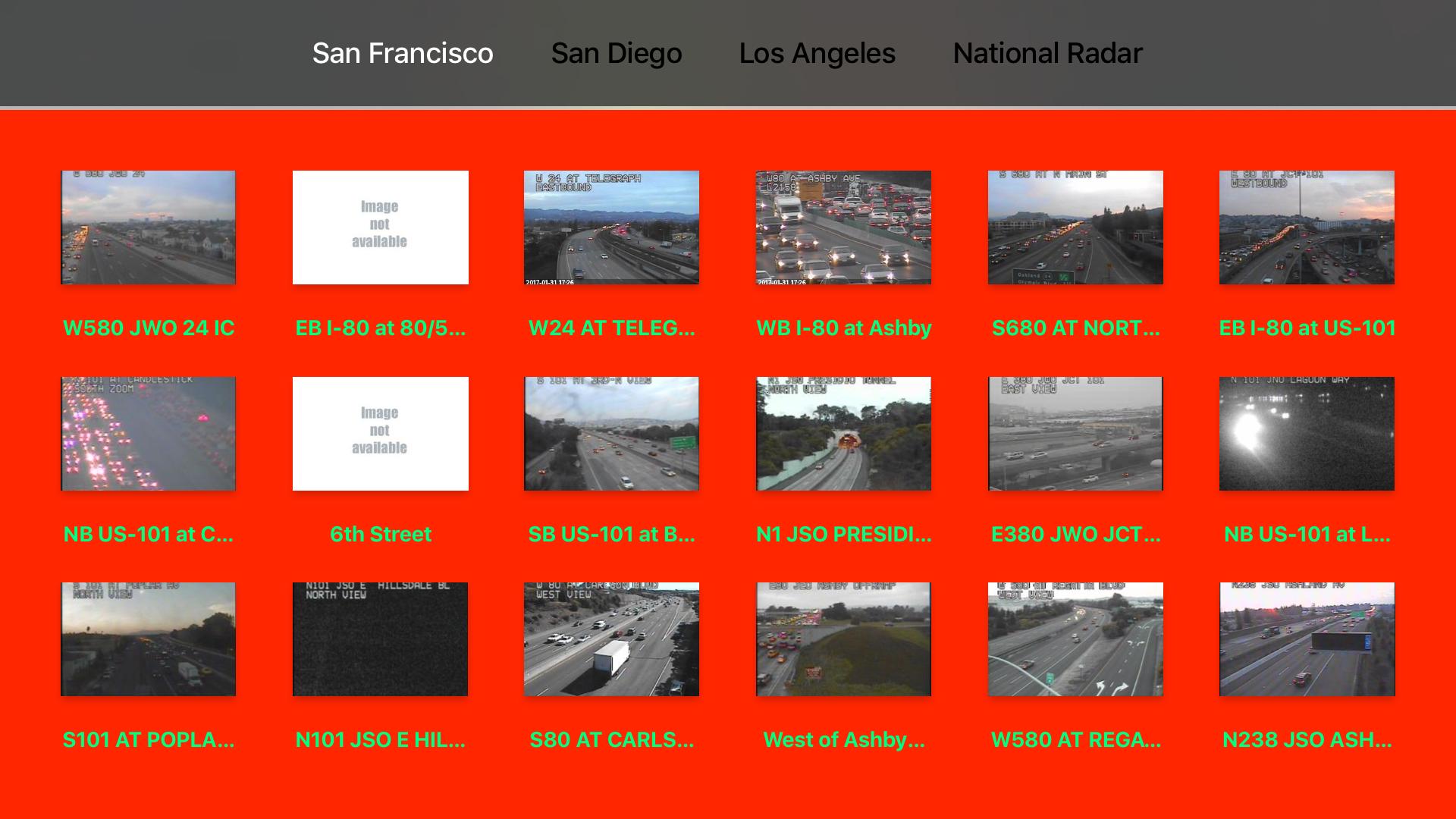 California NOAA Radar and Traffic Camera 3D screenshot 10
