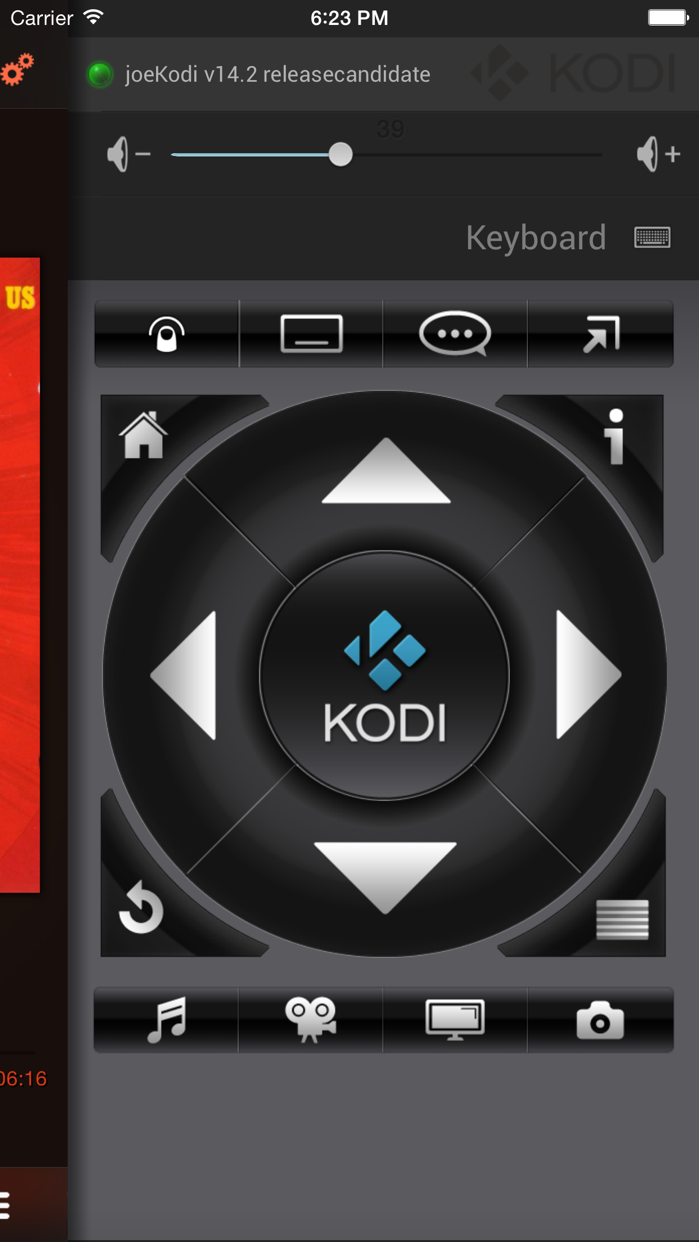Official Kodi Remote Screenshot