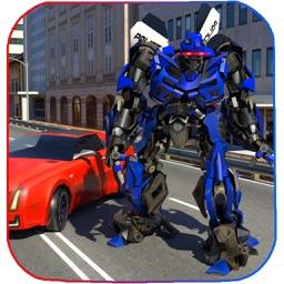 Futuristic Police Robot Runner