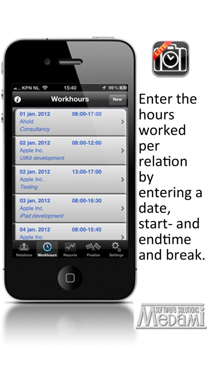 WorkhourTracker Lite