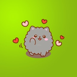 Fluffy Kitty Stickers