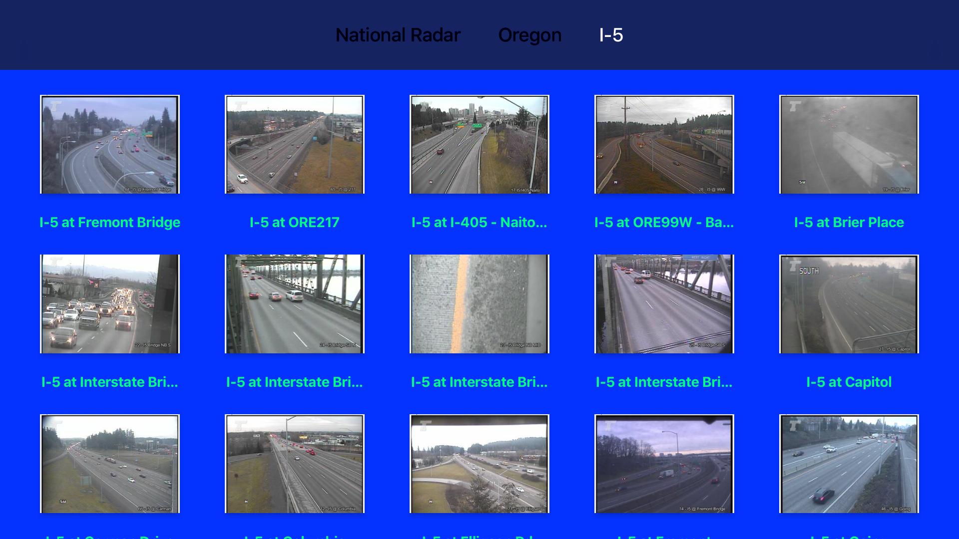 Oregon NOAA Radar with Traffic Cameras 3D screenshot 12