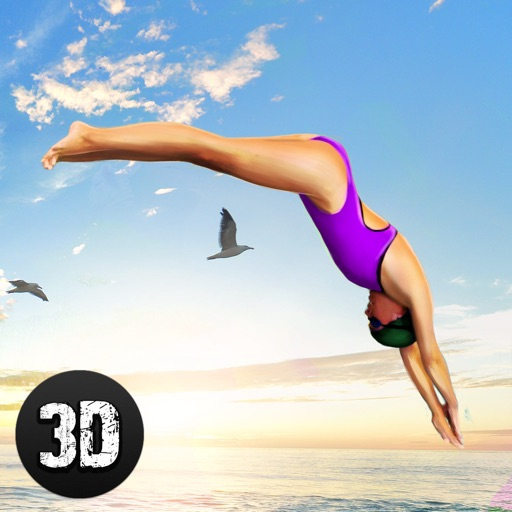 Swimming Pool Cliff Flip Diving Simulator 3D Full