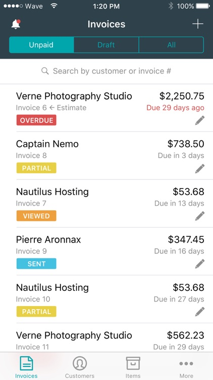 Invoice by Wave
