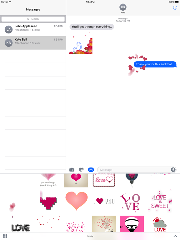 Lovely Animated Stickers screenshot 7