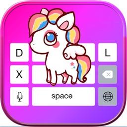 Unicorn Keyboard Themes – Cute Keyboards Skins