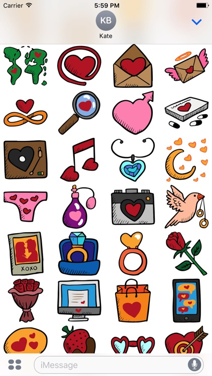 Dating Stickers -Valentine's Day 2017 For Messages screenshot-3