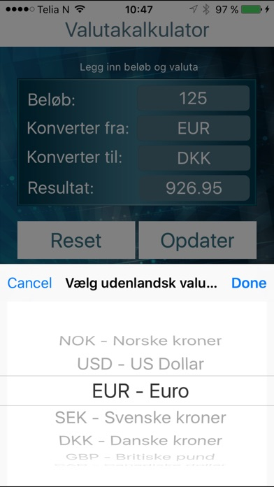 valutaomregner dansk valutakurser app price drops