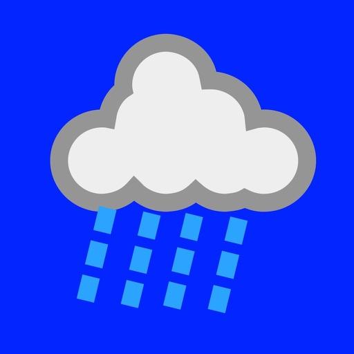 雨もよう  -  レーダーと天気図