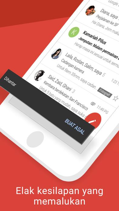Screenshot for Gmail - e-mel Google in Malaysia App Store