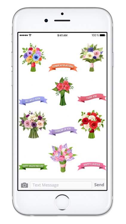 Send Flowers & Messages Sticker Pack