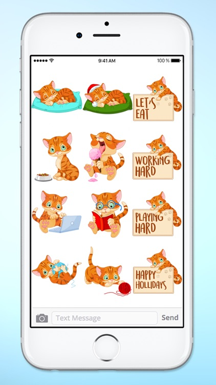 Cute Kitten Messages Sticker Pack screenshot-3