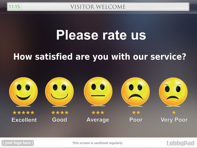 Lobbypad Visitor Queue Manager And Smiley Feedback On The